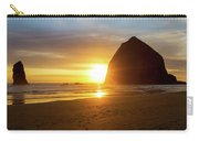 Sunset By Haystack Rock At Cannon Beach Carry-all Pouch