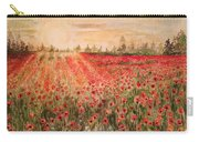 Sunset By The Poppy Fields Carry-all Pouch