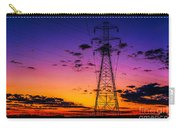 Sunset By The Wires Carry-all Pouch