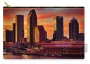 Sunset City Downtown By The River Carry-all Pouch