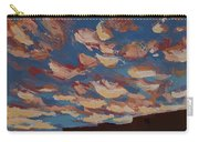 Sunset Clouds Over Santa Fe Carry-all Pouch by Erin Fickert-Rowland