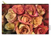 Sunset Colored Roses Carry-all Pouch