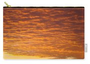 Sunset Fiery Orange Sunset Art Prints Sky Clouds Giclee Baslee Troutman Carry-all Pouch