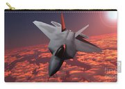 Sunset Fire F22 Fighter Jet Carry-all Pouch