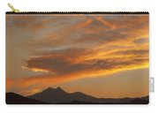 Sunset Glow Over The Twin Peaks Carry-all Pouch
