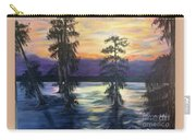 Sunset In Cypress Grove Carry-all Pouch