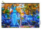 Sunset In Pere Lachaise Abstraction Carry-all Pouch