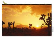 Sunset, Joshua Tree Park, California Carry-all Pouch