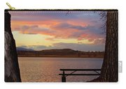 Sunset Lake Picnic Table View  Carry-all Pouch