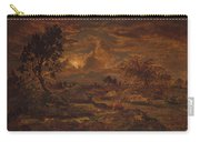 Sunset Near Arbonne , Theodore Rousseau Carry-all Pouch