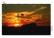 Sunset On A Windmill Jal New Mexico Carry-all Pouch