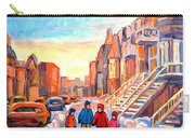 Sunset On Hotel De Ville Street Montreal Carry-all Pouch