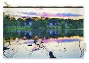 Sunset On Kenoza Lake Haverhill Ma Reflection Carry-all Pouch