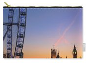 Sunset On River Thames Carry-all Pouch by Jasna Buncic