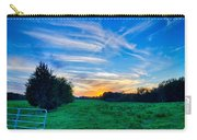 Sunset On South Carolina Farm Land Carry-all Pouch