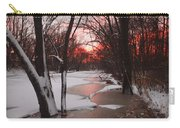 Sunset On The Red Cedar Carry-all Pouch