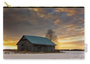 Sunset On The Snowy Fields Carry-all Pouch