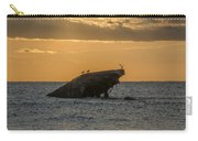Sunset On The Wreck Of The Concrete Ship Atlantus Carry-all Pouch