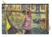 Sunset On Venice - The Gondolier Carry-all Pouch