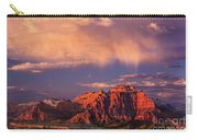 Sunset On West Temple Zion National Park Carry-all Pouch