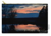 Sunset On Willow Pond Carry-all Pouch