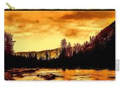 Sunset At  Yellowstone Lake Carry-all Pouch