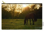 Sunset Over A Spring Meadow Carry-all Pouch
