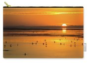 Sunset Over Arcata Marsh, With Avocets Carry-all Pouch