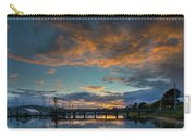Sunset Over Boat Ramp At Anacortes Marina Carry-all Pouch