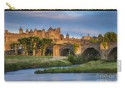 Sunset Over Carcassonne Carry-all Pouch by Brian Jannsen