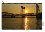 Sunset Over Columbia Crossing I-5 Bridge Carry-all Pouch