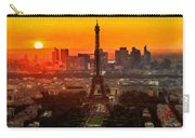 Sunset Over Eiffel Tower Carry-all Pouch
