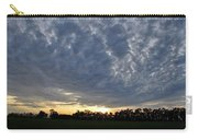Sunset Over Farm And Trees - Distant View Carry-all Pouch