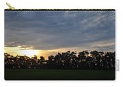 Sunset Over Farm And Trees Carry-all Pouch