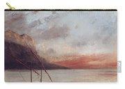 Sunset Over Lake Leman Carry-all Pouch by Gustave Courbet