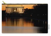 Sunset Over Lincoln Memorial Carry-all Pouch