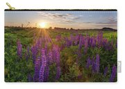 Sunset Over Meadow Of Lupine Carry-all Pouch