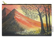 Sunset Over Mountains Carry-all Pouch