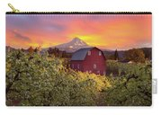 Sunset Over Mt Hood And Red Barn Carry-all Pouch