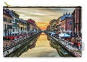 Sunset Over Naviglio Grande Carry-all Pouch