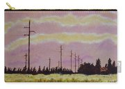 Sunset Over Powerlines Carry-all Pouch