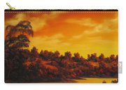 Sunset Over River Carry-all Pouch