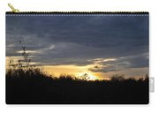 Sunset Over Rural Field Carry-all Pouch