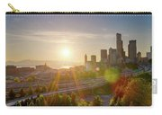 Sunset Over Seattle Downtown Skyline Carry-all Pouch