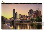 Sunset Over Skyscrapers Of Melbourne Downtown And Princes Bridge Carry-all Pouch