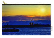 Sunset Over The Carl Vinson Carry-all Pouch