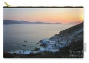 Sunset Over The Fishing Cove Of Klima On The Cycladic Island Of Milos Carry-all Pouch