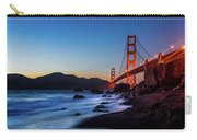 Sunset Over The Golden Gate Bridge Carry-all Pouch