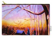 Sunset Over The Hockey Game Carry-all Pouch
