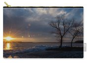 Sunset Over The Mississippi In Wisconsin Carry-all Pouch